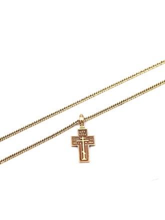 Цепь с крестом, золото 56°