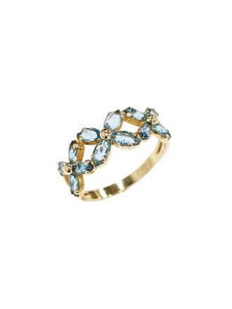 """Кольцо Золото 585"""" Топазы"""