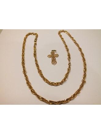 Цепь Крест золото 585