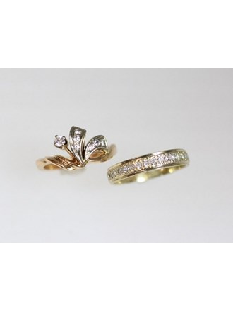 Кольца Золото 585  Бриллианты