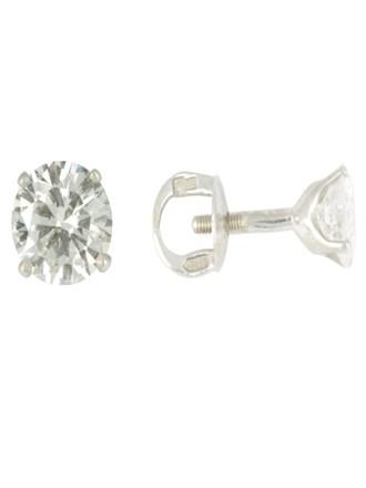 Серьги - пуссеты с бриллиантами