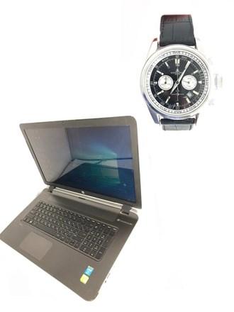 Часы и ноутбук