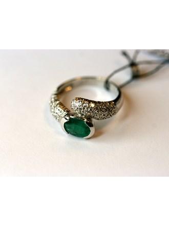 "Кольцо Золото 750"" Бриллианты Изумруд"