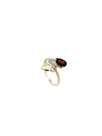 Кольцо Гранат Фианиты