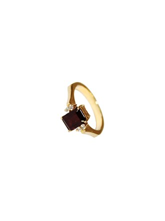 "Кольцо Золото 585"" Бриллианты Гранат"