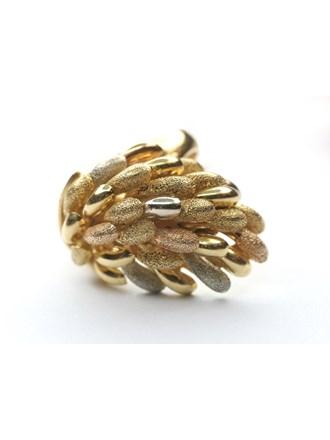 Кольцо розовое, желтое и белое Золото 750*