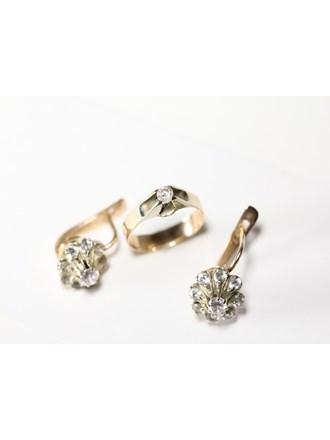 """Кольцо Серьги Золото 585"""""""