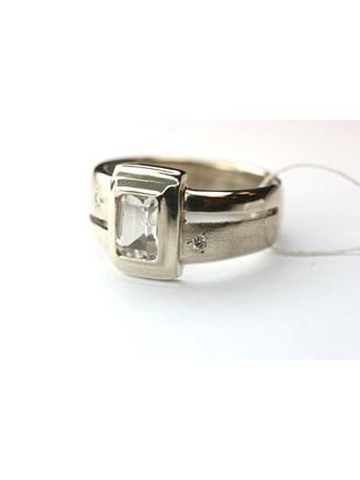 Кольцо Золото 585, Бриллианты, Фианит