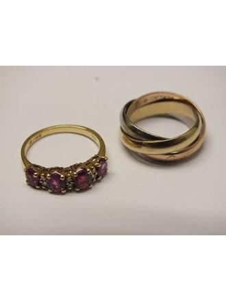Кольца CARTIER Золото 750 Рубины Бриллианты
