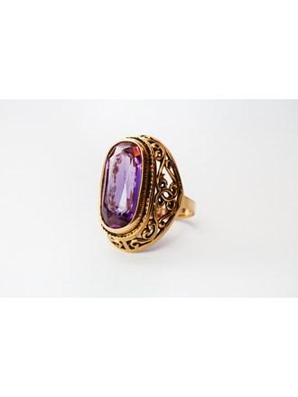 Кольцо с аметистом Золото 585