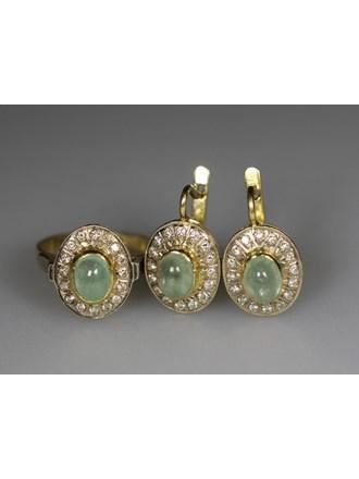 Серьги Кольцо Золото 750 Бриллианты