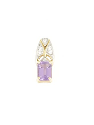 Кулон аметист и бриллианты
