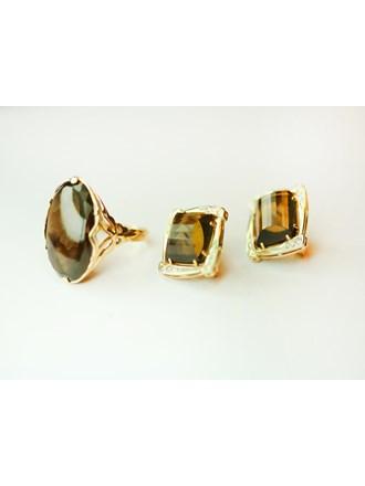 Кольцо, серьги пара Золото 585