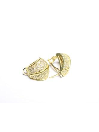 Серьги Золото 585 Фианиты