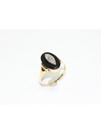 "Кольцо Золото 585"" Бриллианты Агат"