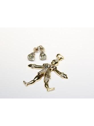 Серьги Подвеска Золото 585 Бриллианты
