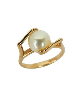 Кольцо с культивированным жемчугом