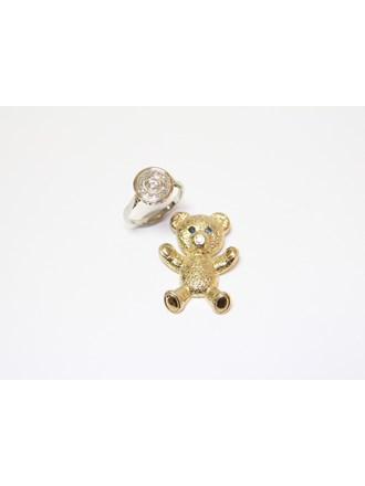 """Кольцо Подвеска Золото 585""""  Бриллианты Сапфиры"""