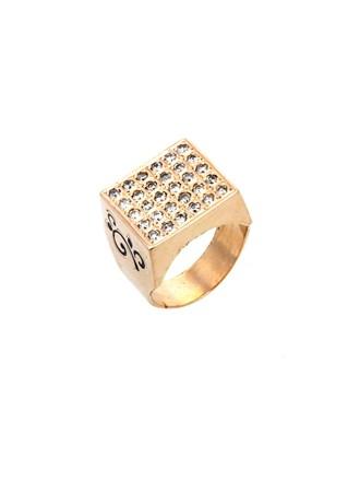 Перстень Бриллиантовые вставки Эмаль