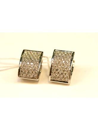 Серьги ЗОЛОТО 750 с бриллиантами