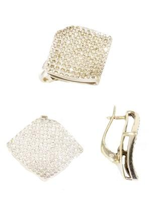 Комплект c бриллиантами
