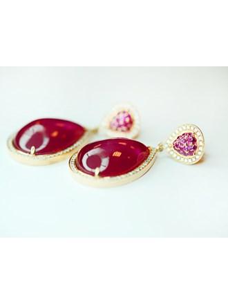 Серьги бриллианты золото 750