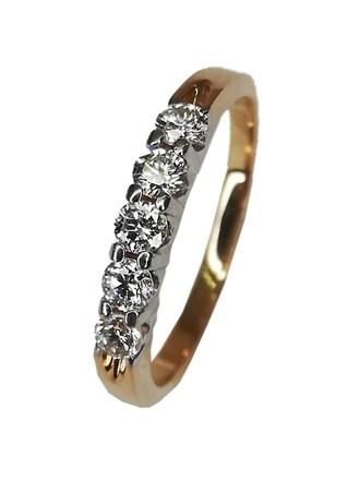 Кольцо с бриллиантами золото