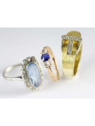 Ювелирные украшения Золото 585 Бриллианты сапфиры топазы