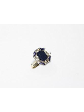 """Кольцо Золото 585"""" Сапфиры Алмазные розы"""