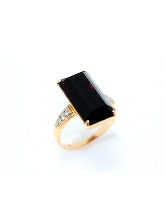 """Кольцо Золото 585"""" Агат Фианиты"""