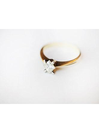 "Кольцо с бриллиантом Золото 585"""