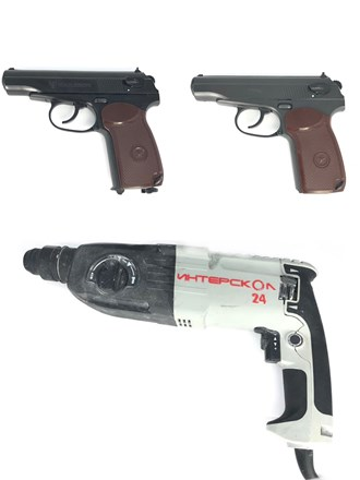 Перфоратор и пневматические пистолеты