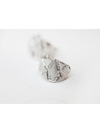 """Серьги пара с бриллиантами Белое Золото 585"""""""