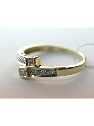 Кольцо с бриллиантами, Золото 585*