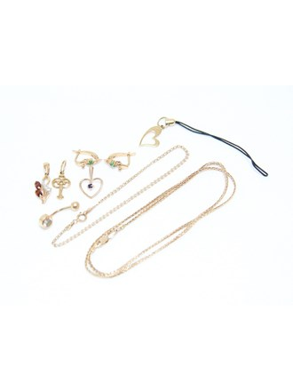 Ювелирные украшения Золото 585 Фианиты Гранаты