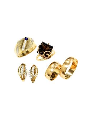 """Кольца Серьги Золото 585"""" Топаз Фианиты"""