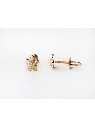 "Серьги пара с бриллиантами Золото 585"""
