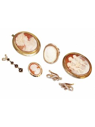 """Ювелирные украшения Золото 585"""" Камея на раковине"""