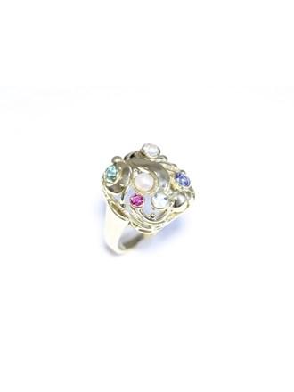 """Кольцо Золото 585"""" Бриллиант Сапфир Рубин"""