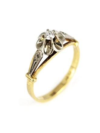 Кольцо с брилллиантом