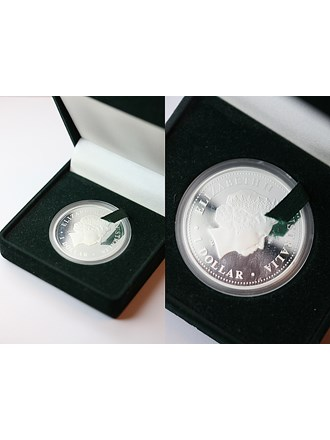 "Монета 1 доллар DISCOVER AUSTRALIA 2008 год Серебро 999"""