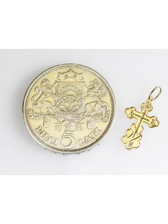 """Монета Серебро ,Крест Золото 583"""""""