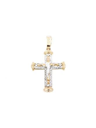 """Крест Золото 585"""" Фианиты"""
