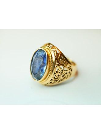 """Кольцо с искусственным камнем Золото 585"""""""