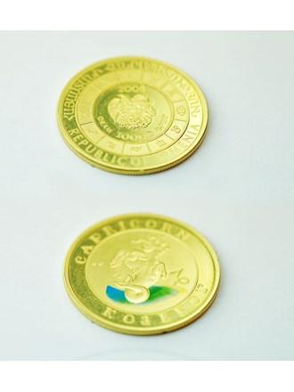 Монеты 2 шт. Козерог 2008 год Золото 900