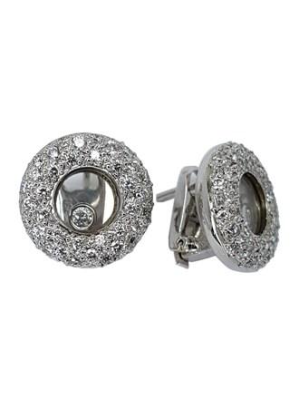 Серьги с плавающими бриллиантами