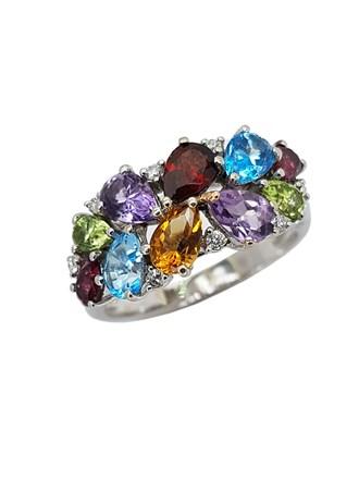 Кольцо с природными камнями