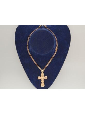 Цепочка Крест Золото 585