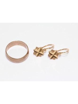 Серьги Кольцо Золото 583